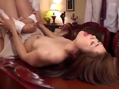 Asian wife fucked by husbands 4 friends
