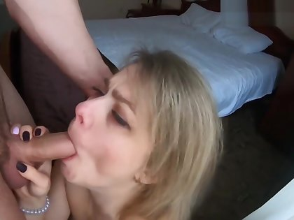 Hot Russian mommy seduced her young stepson