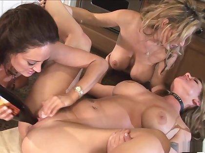 Fabulous pornstars Elexis Monroe, Kayla Cam and Michelle Lay in amazing masturbation, mature xxx video