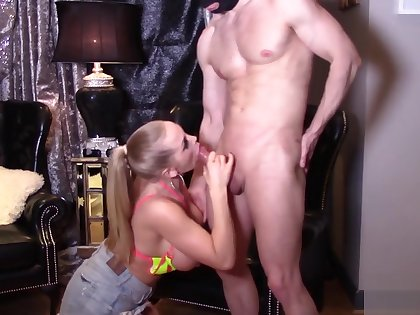 Rebecca more with girl Blond and sex