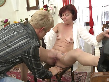 Younger guy got a chance back bang his redhead instructor Diane