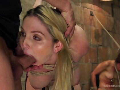 Naked column fucked in brutal manners with the addition of made here swallow