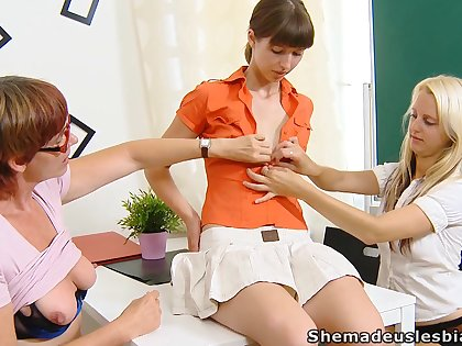 Two lesbo students get a lesson of a different kind