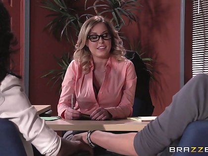Underwear wearing boss descendant Payton West fucked beyond an obstacle rendezvous table
