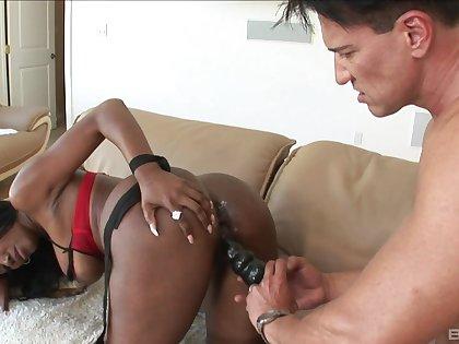 White man makes a germ of slutty ebony fox Nyomi Banxxx