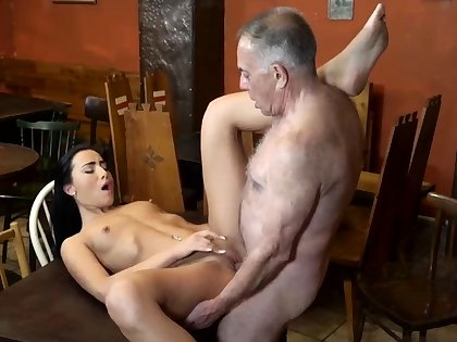 British mature chaperon with the addition of young dildo cam xxx And she