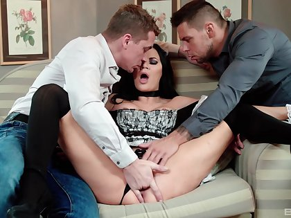 Big-boobed maid Jasmine Jae has a penchant for anal ache