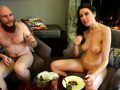 Bound big boobs brunette welcomes big cock involving ass
