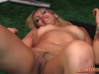 Latin Blonde Went To A Local Gym And Sucked A Massive Cock, Before Getting Fucked Very Hard