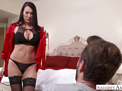 Viagra incident ends with crazy sexual congress with stepmom Reagan Foxx