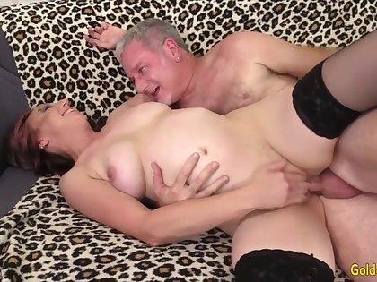 Golden Slut - Older Floozy Gets a Dicking Compilation