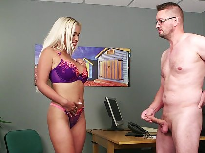 Nude busty blonde takes off the brush lingerie be expeditious for a nice shag