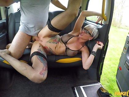 Feign Taxi - Tattooed MILF Drains Cabbies Balls 2 - Fluency