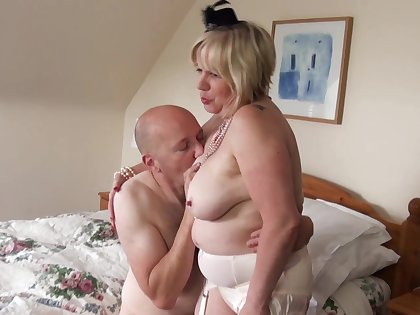 Chubby wife Trisha enjoys having sex with a younger lover