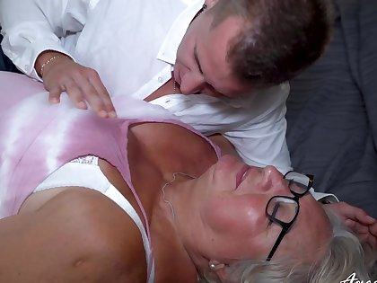 Twosome really old mature lassie got her wish fulfiled with handy pencil really hard